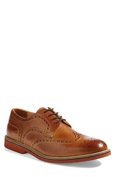 84d44d8f Free shipping and returns on 1901 'Lewiston' Wingtip (Men) at  Nordstrom.com. Richly pebbled leather adds distinctive texture to a classic  wingtip with ...