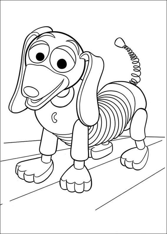 Toy Story Slinky Toy Story Coloring Pages Disney Coloring