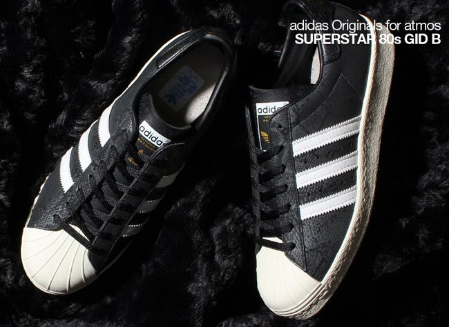 sale retailer b1d33 cd79b atmos x adidas Originals Superstar 80s G SNK 8 (GID B)