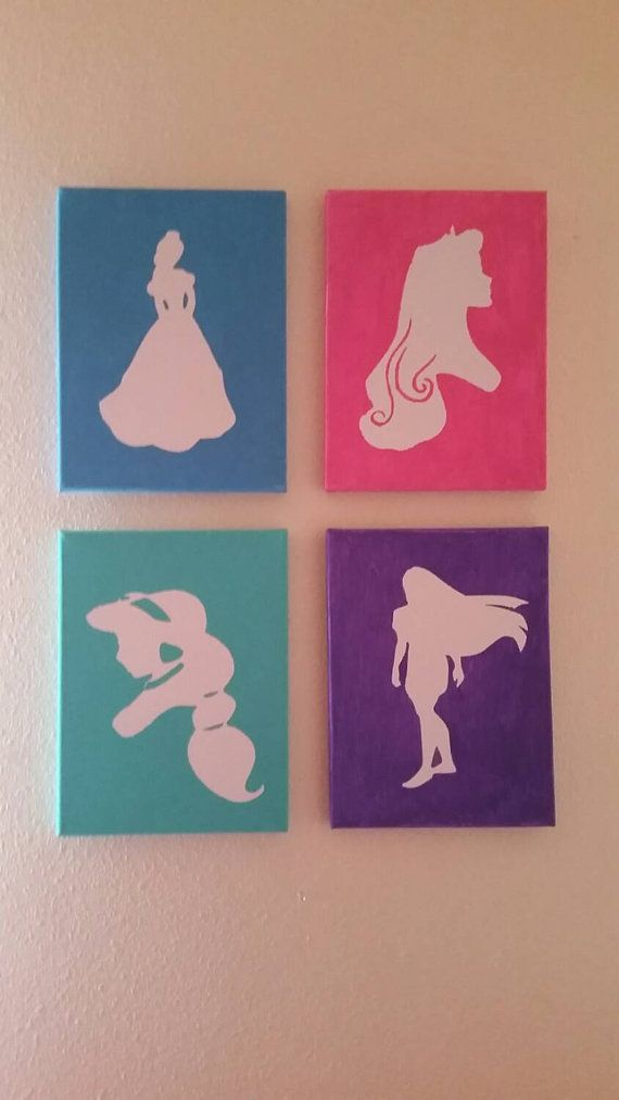 Check out this item in my Etsy shop https://www.etsy.com/listing/247224760/disney-princess-sillouette-canvas-decor