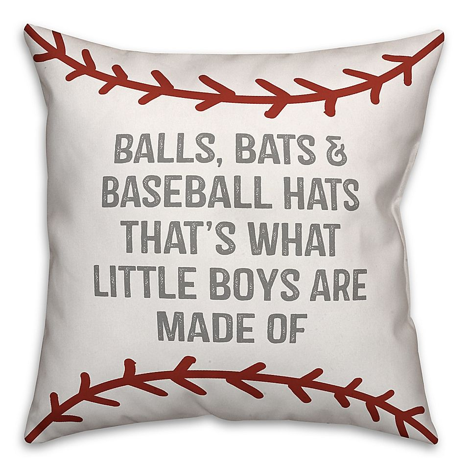 Photo of Designs Direct Baseball Boys Square Throw Pillow In Red/white