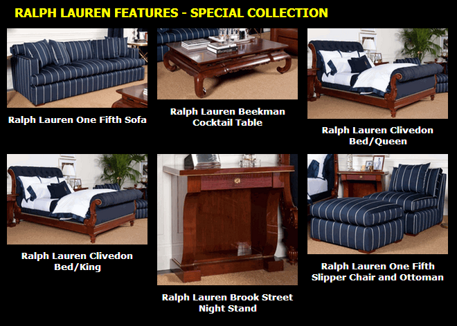 Ralph Lauren ~ Special Collection  www.PacificHeightsPlace