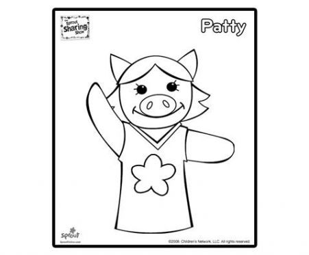 Patty coloring page sprout sharing show coloring pages for kids sprout