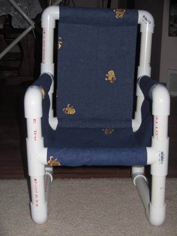 pvc projects connor 39 s pvc pipe chair by marchelle home