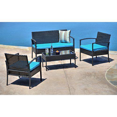 found it at joss main jefferies 4 piece wicker seating group rh pinterest com  joss and main patio chairs