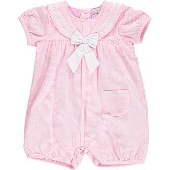 Pink & White Pin Stripe Playsuit