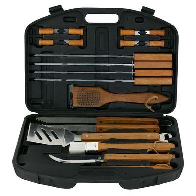 Mr. Bar-B-Q Wood Handle Tool Set (Set of 18) $33
