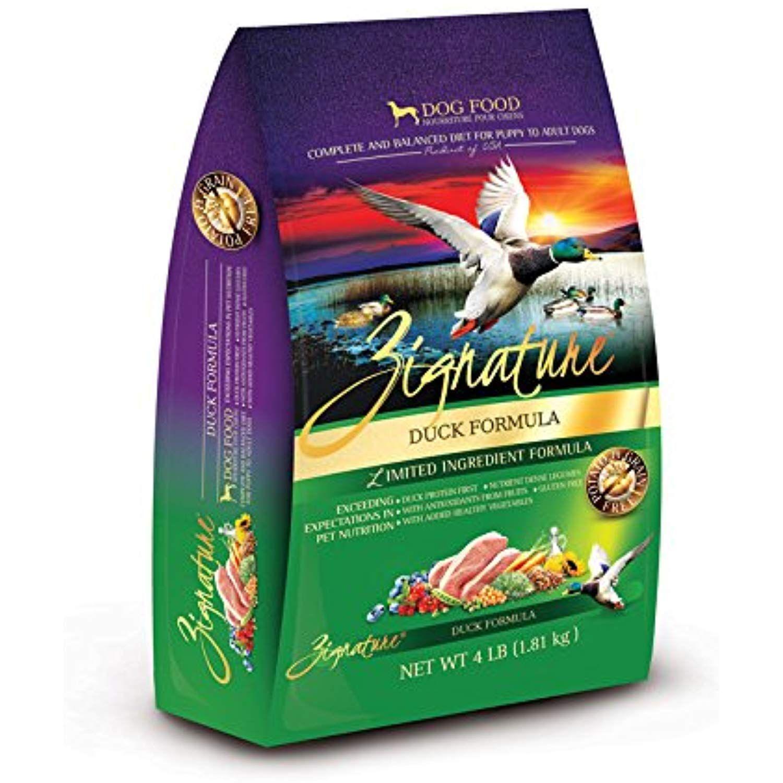Zignature duck formula dog food 4 lb details can be