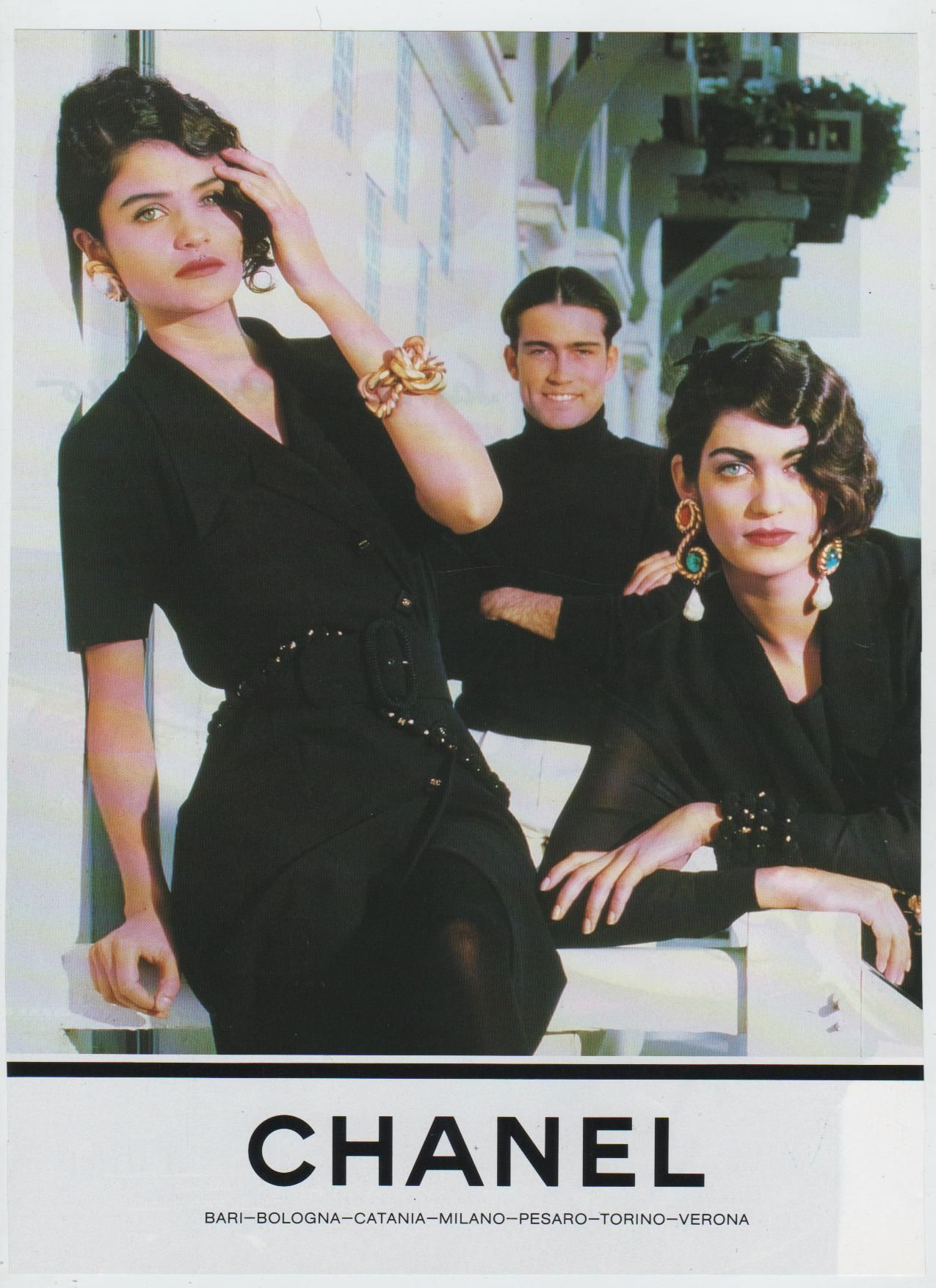 Chanel ad 1990 Helen Christensen | Chanel | Pinterest ...