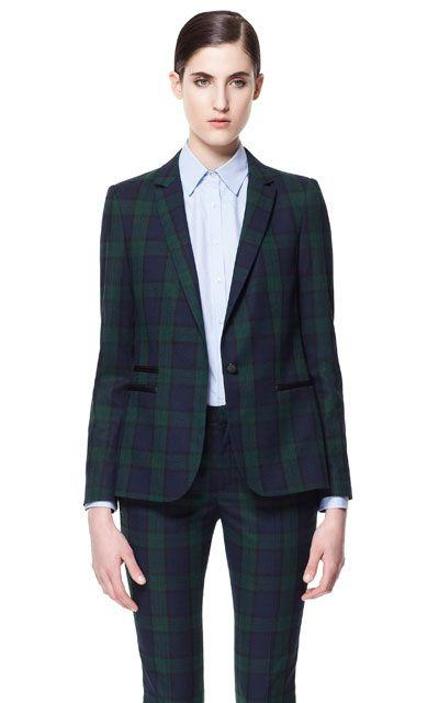 Trajes de chaqueta pantalon mujer zara