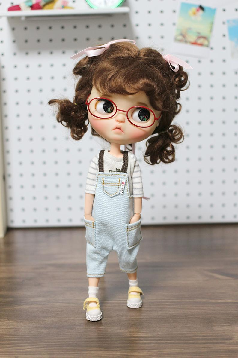 Blythe clothes Light Washing Overalls Etsy in 2020