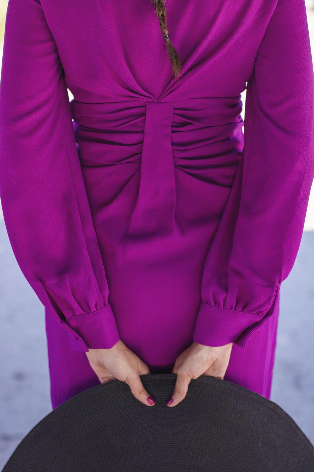 Look invitada boda dia mañana vestido buganvilla pamela   vestidos ...