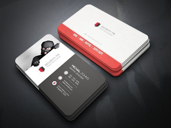 Security Business Card Templates Features Of Business Card