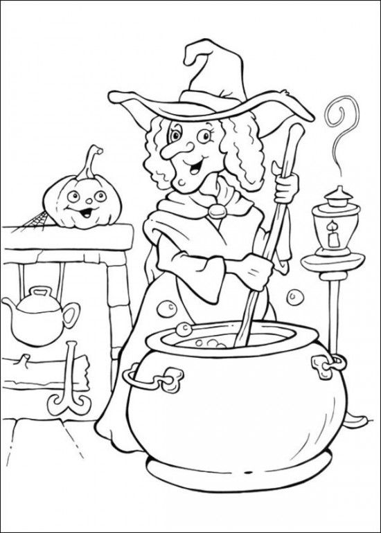 Funschool Halloween Coloring Pages for Kids   drawing   Pinterest ...
