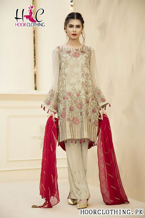 e850299b58 Jazmin yeseria master replica eid collection pc un stitched dress  embroidered net shirt front and back