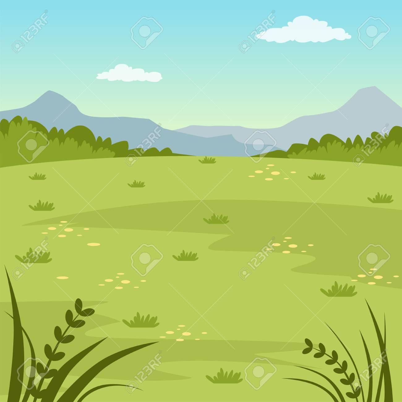 Green Field Rural Summer Landscape Nature Background Vector Illustration Affiliate Rural Summer Green Summer Landscape Nature Backgrounds Landscape
