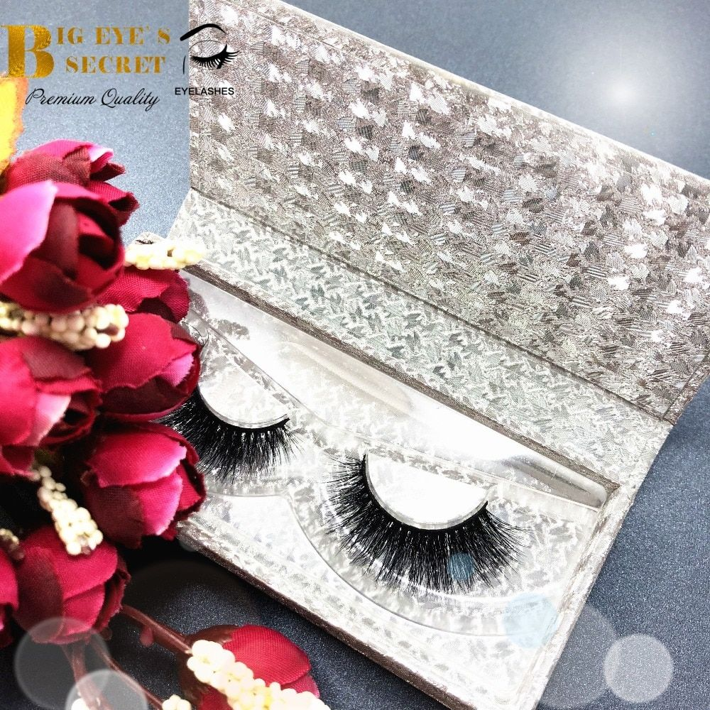 Customized Packaging Box Silver Case For Strip Lashes Volume