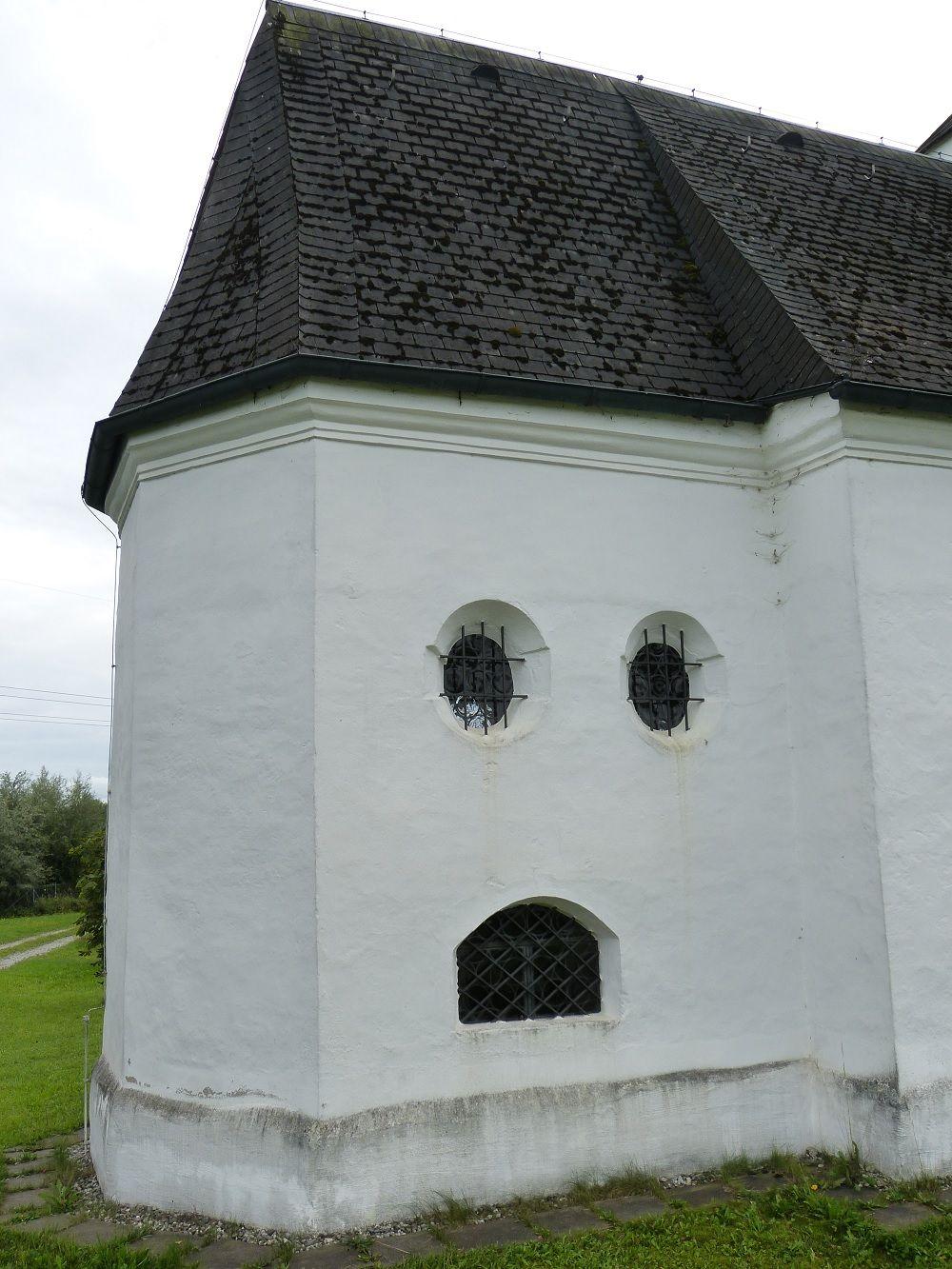 A church with a :o face - near Rosenheim, Bavaria, Germany by @alumbricus