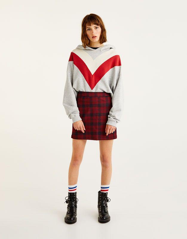 4cd9caeb5a8 Καρό φούστα - Φούστες - Ενδύματα - Γυναικεία - PULL&BEAR Ελλάδα ...