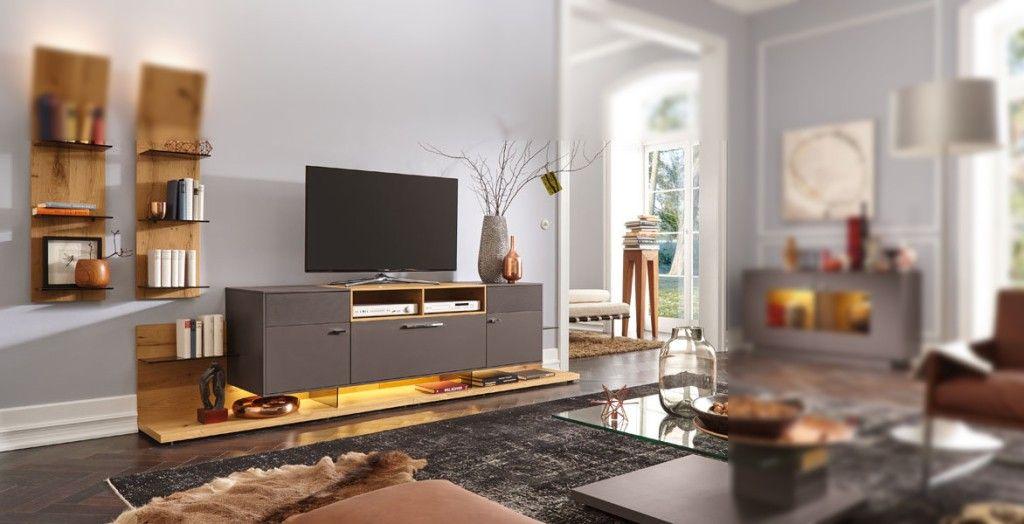 Gwinner Medienelement Mediaconcept Lowboard Lack Seidenmatt Taupe Mobel Mit Www Moebelmit De Coole Mobel Wohn Design Lowboard