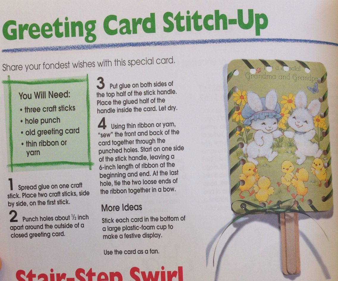 And you wondered what to do with all those old greeting cards