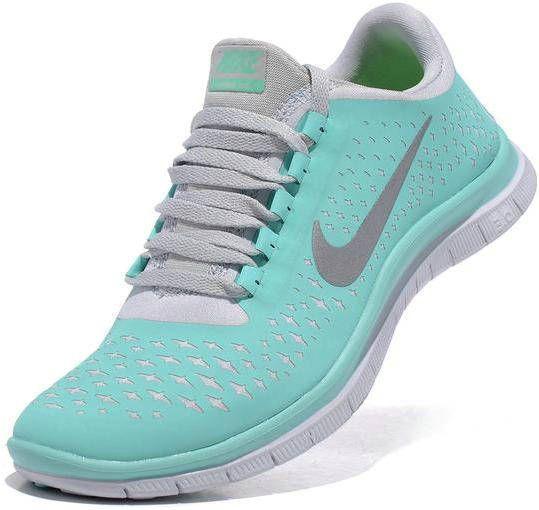 quality design 59438 39e2f Womens Nike Free 3.0 V4 Aqua Silver Shoes  Nike Free Run 324  -  66.22