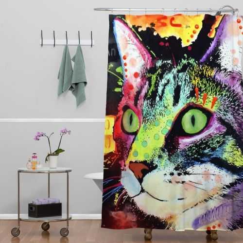 Curiosity Cat Shower Curtain