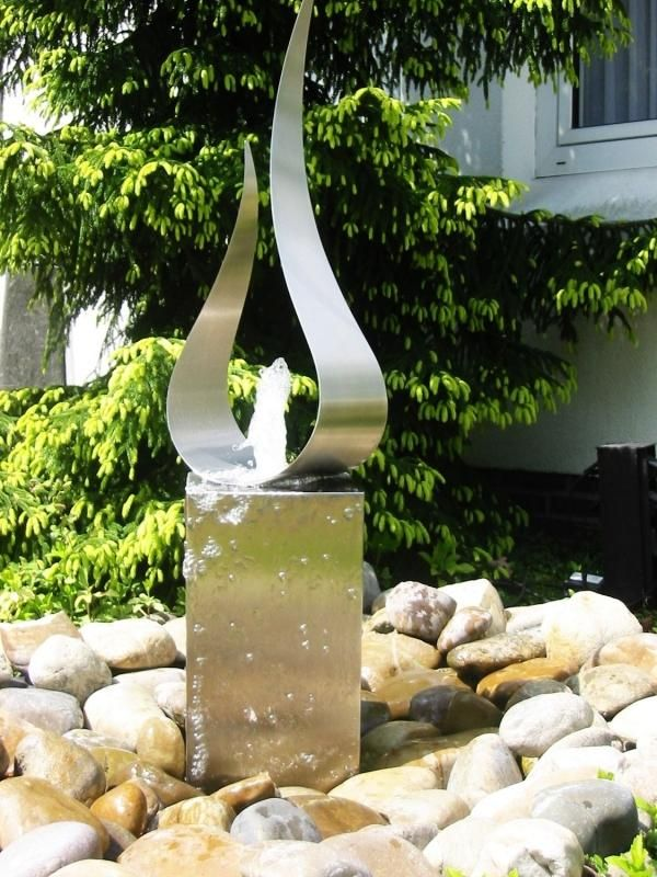 designer brunnen-garten outdoor vermittelt oase-der ruhe | great, Garten und Bauten