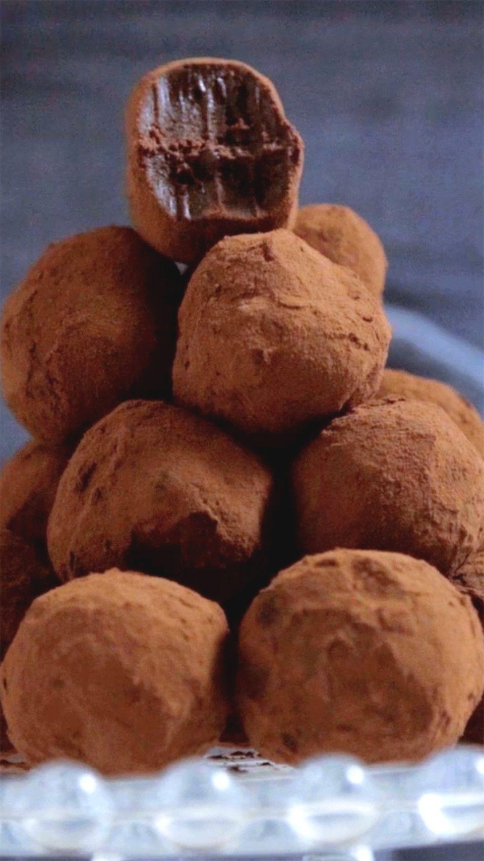 Trufas de Chocolate ~ Receita