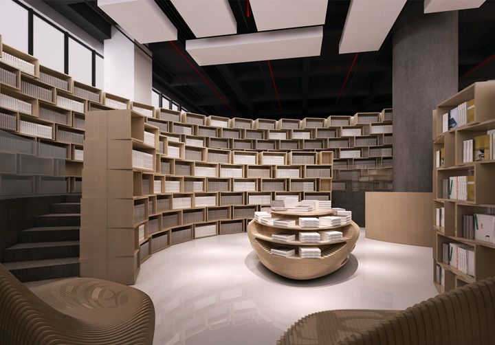 Tongji bookstore by Archi-Union Architects, Shanghai Shops
