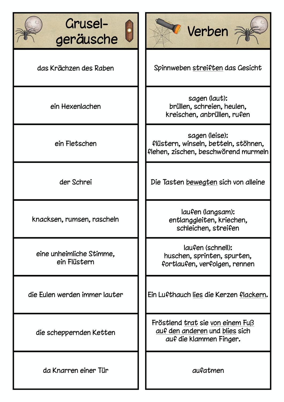 Gruselgeschichte Hilfen – Unterrichtsmaterial im Fach Deutsch ...