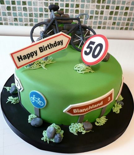 50th Cycling Cake Cycling Cake Bike Cakes Bicycle Cake