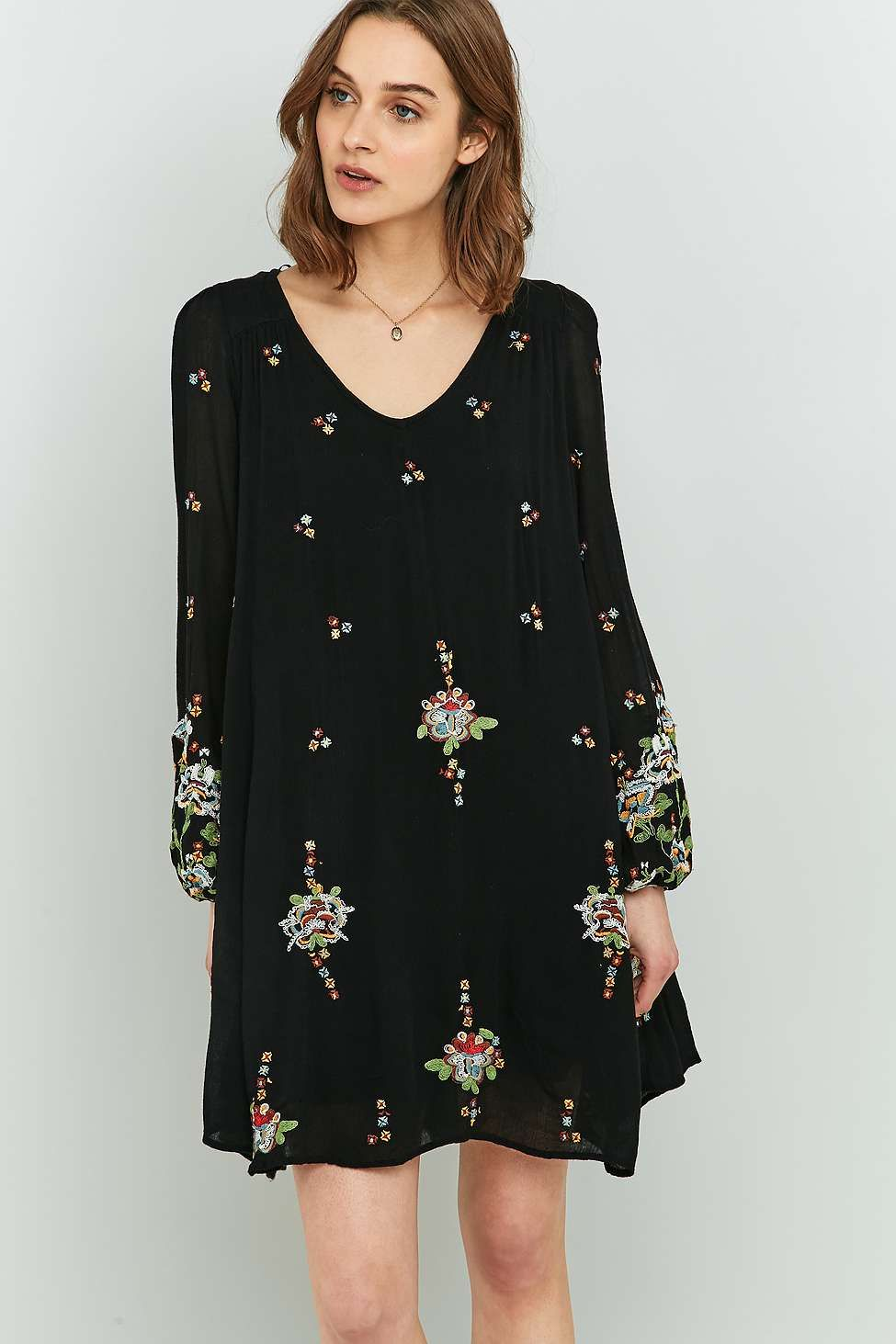 69288c53c0f89 Free People Oxford Embroidered Mini Dress | Senior Pictures ...