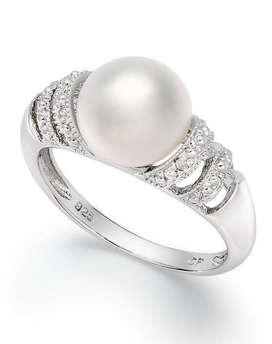 Fine Jewelry Cultured Freshwater Pearl Sterling Silver Ring Zmdcp