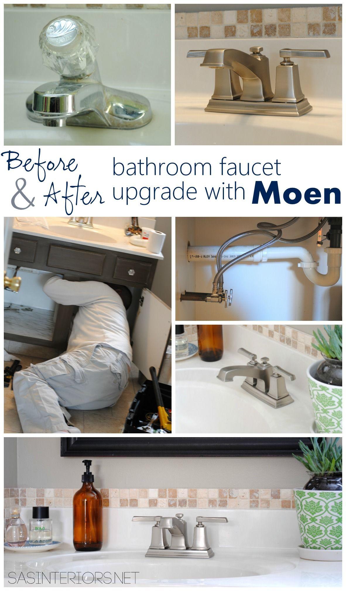 Bathroom Sink Faucet Upgrade With Moen Faucet Upgrade Neutral