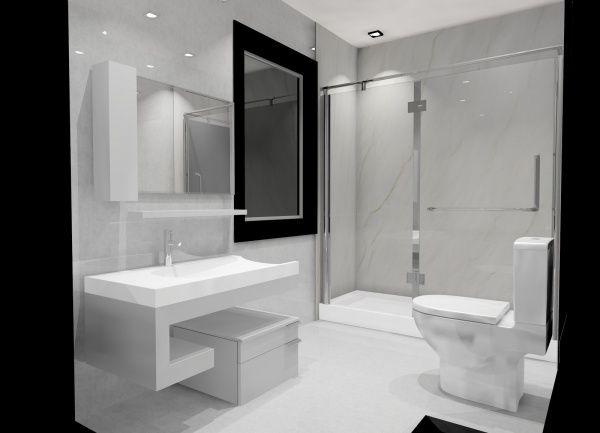 mueble para baño minimalista Bathroom Pinterest Baño