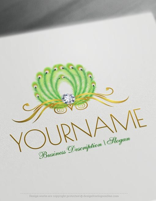 Create Your Own Peafowl Peacock Logo Design Ideas Beauty Logo Design Lotus Flower Logo Flower Logo