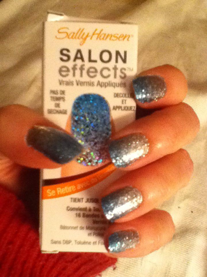 Sally Hanson Salon Effects nail polish strips. I prefer a solid ...
