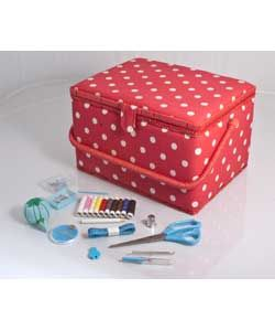 Large Sewing Box with Accessories.  Win this along with a Brother sewing machine in the Sew Dolly Clackett contest! #sewdollyclackett