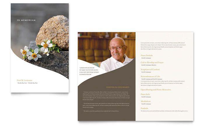 Memorial Brochure Template Alexandria Printable Funeral Program