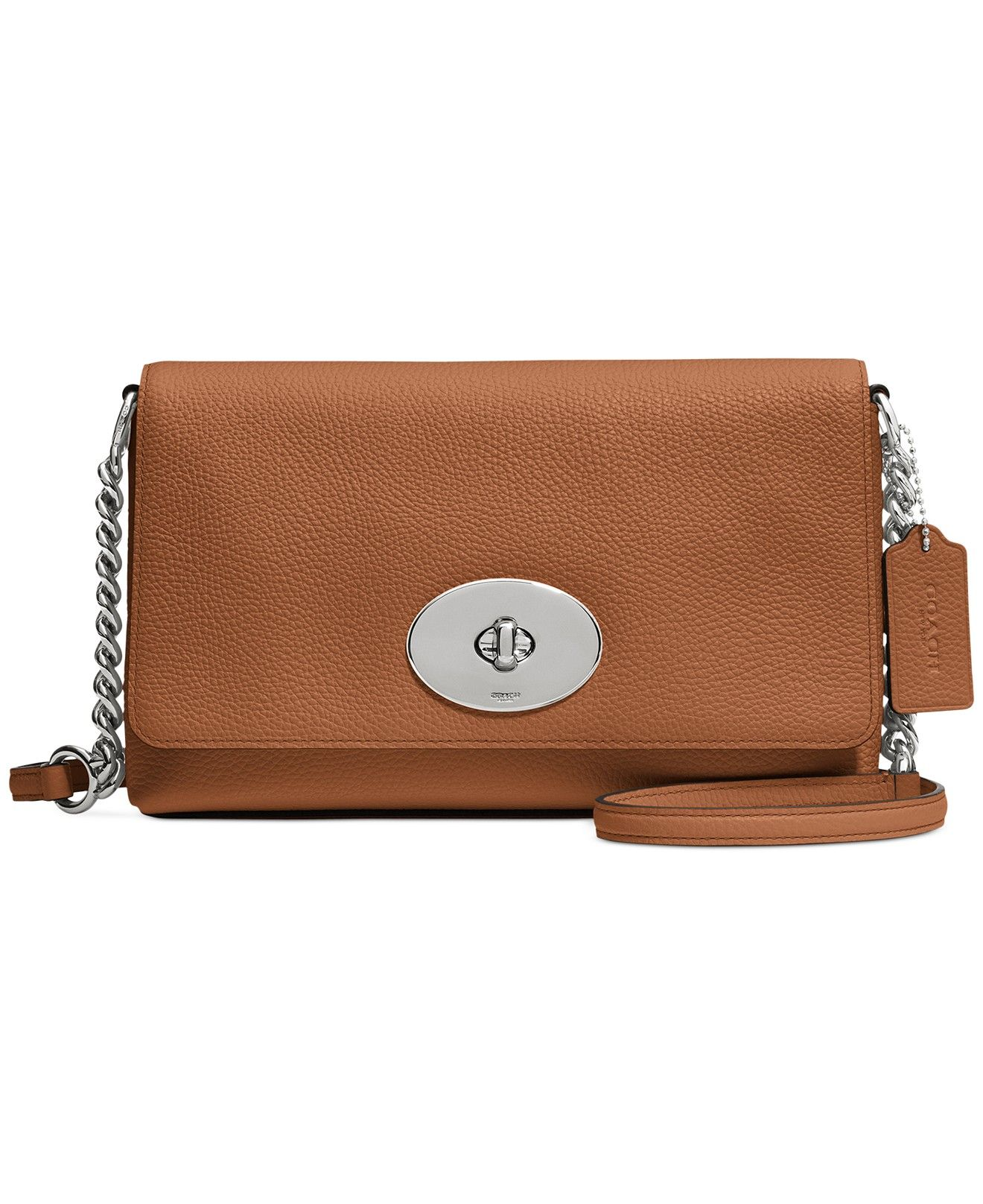 b1ef62a073372 COACH CROSSTOWN CROSSBODY IN POLISHED PEBBLE LEATHER - COACH - Handbags &  Accessories - Macy's