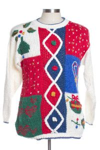 Multicolor Ugly Christmas Pullover 29523