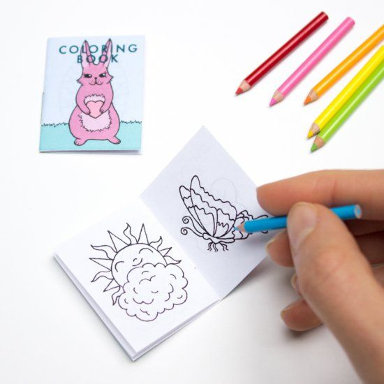 - Print Out Your Own Miniature Playscale Coloring Book With This Free PDF.  Diy Book, Coloring Books, Paper Dolls Printable