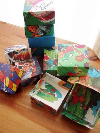 how to make a recycled gift box (pages of old books, et.c.)