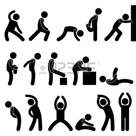 Man People Athletic Exercise Stretching Warm Up Sign Symbol Pictogram Pictogram Human Icon Person Icon