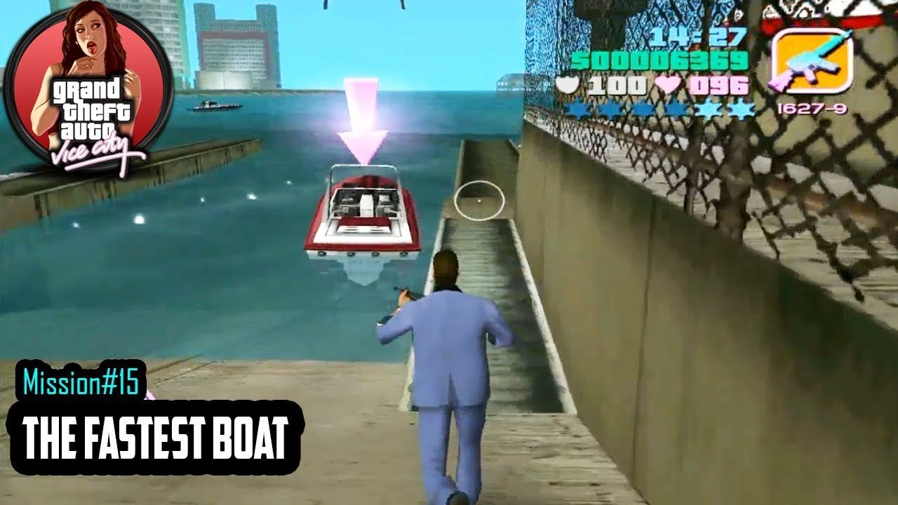 Gta Vice City Mission 15 Fastest Boat Hd With Images Fast Boats