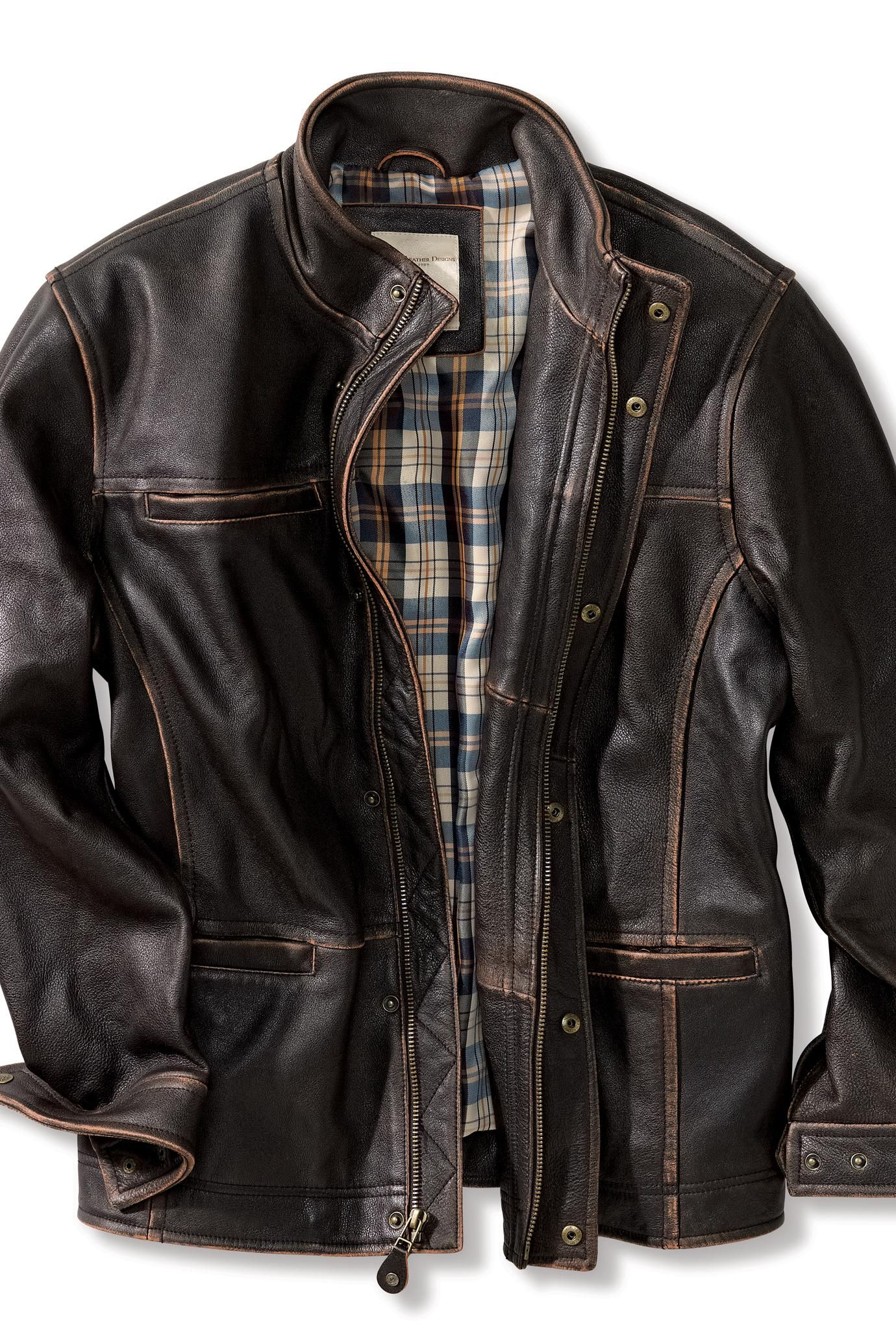 Rugged leather jackets