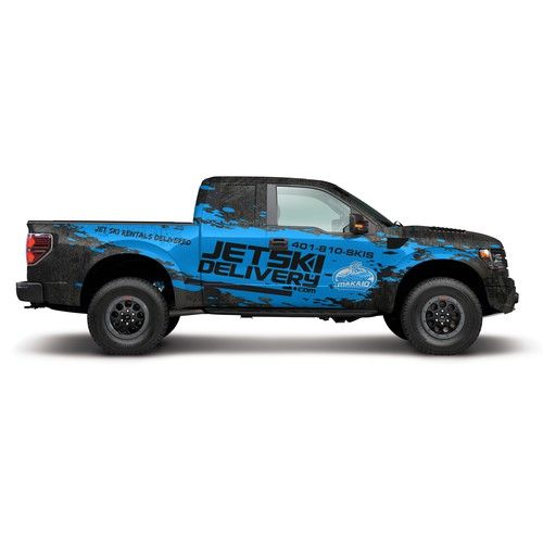 Ford Raptor Wrap For Jetski Delivery Com Fun And Eye Catching