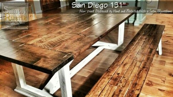 11 Foot Rekourt Dining Table W Extensions By Simply Rustik