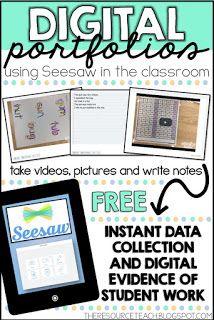 Digital Student Portfolios Using SeeSaw Student portfolios